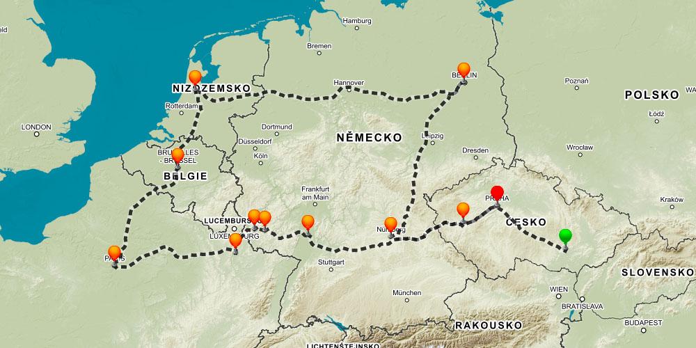 mapa eurotrip