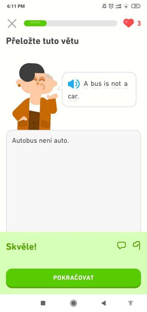 jak se naucit anglicky s Duolingo